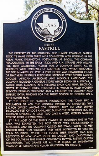 Fastrill: A Texas Logging Camp